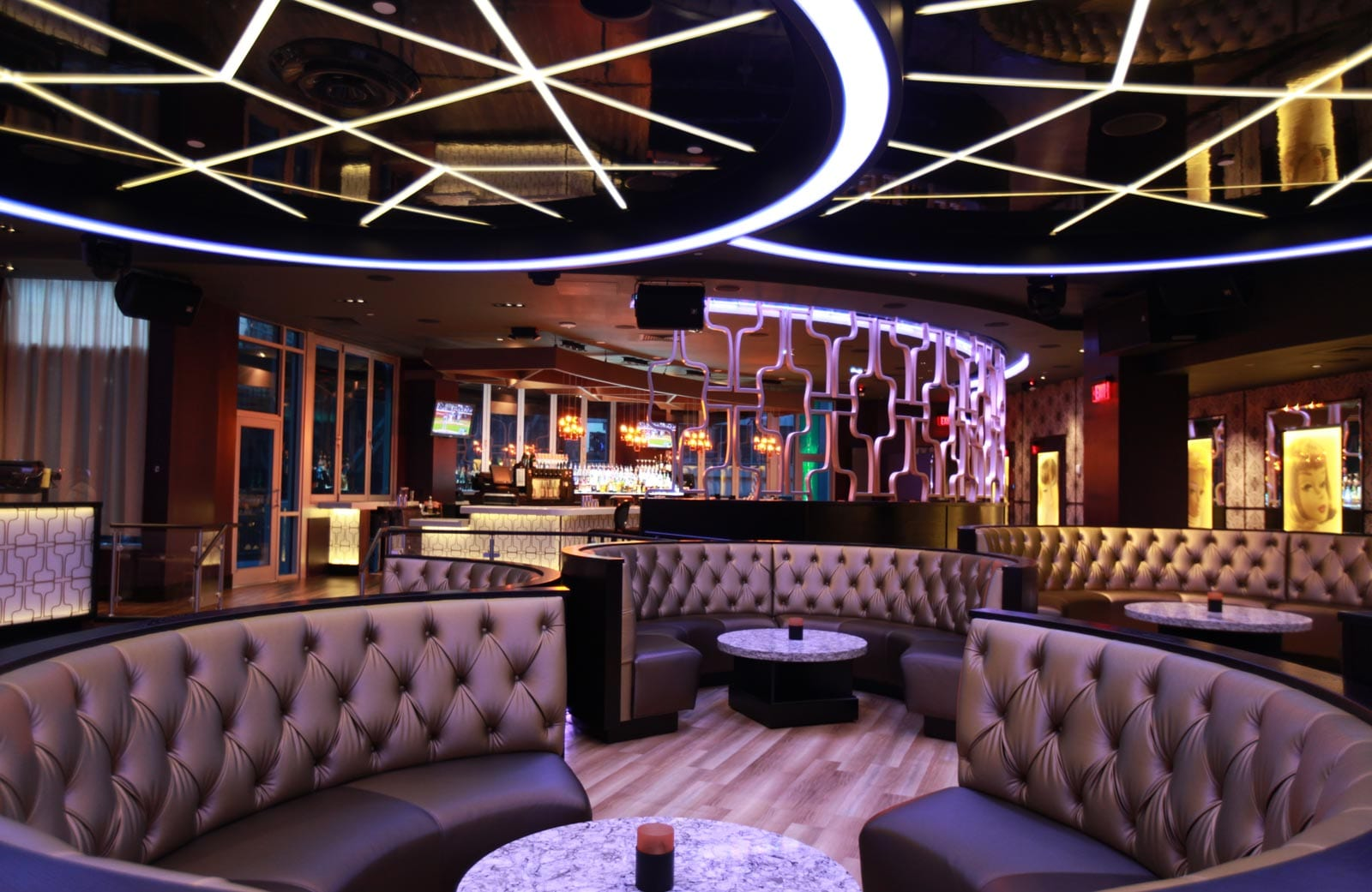 Bubble nightclub design bar restaurant design by big time design studios - Eigentijdse design lounge ...