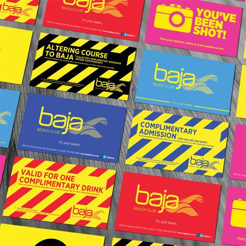 Baja Beach Club - Collateral Design