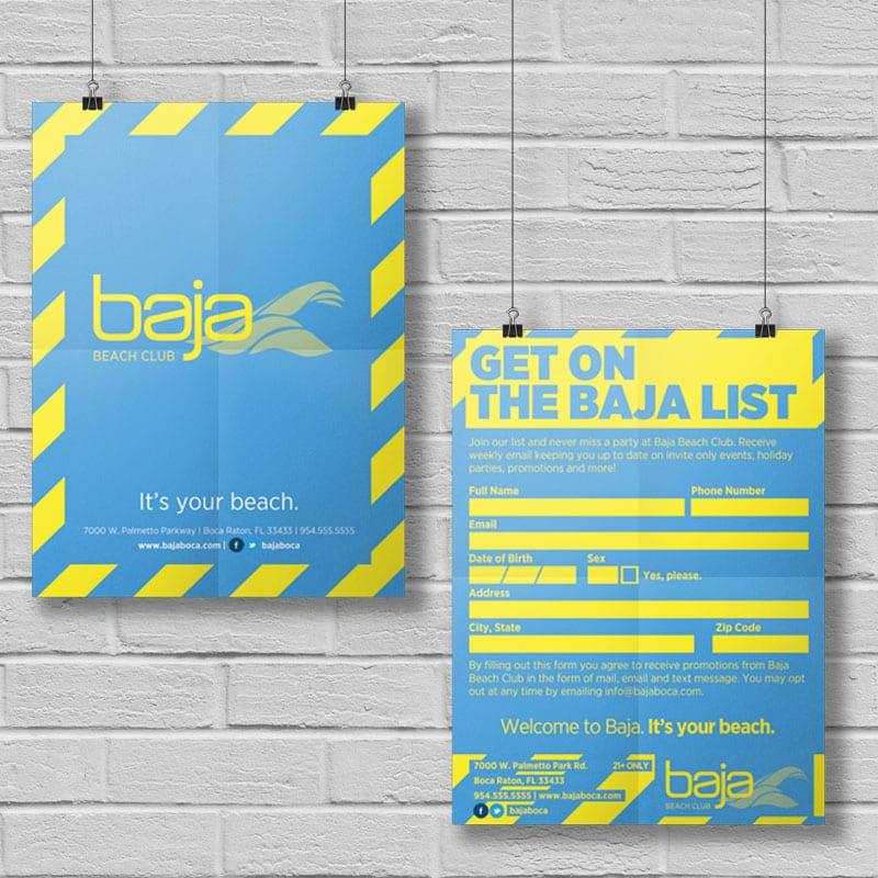 Baja Beach Club - Data Card - Hotel, Restaurant & Nightclub Design
